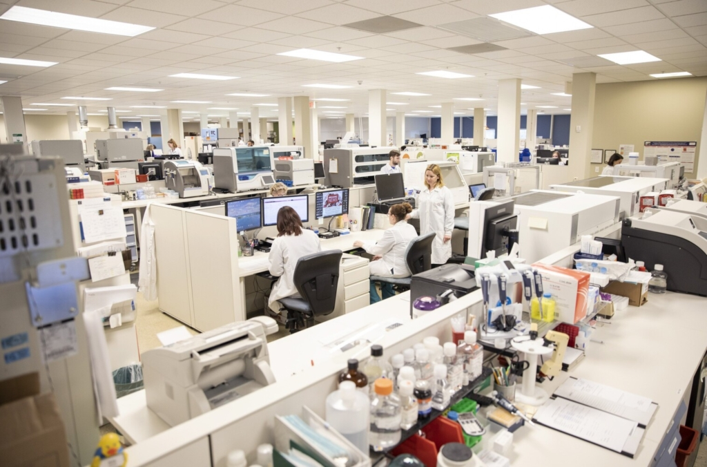 NorDx Laboratories started processing coronavirus tests in March 2020. Maine now faces a surge in demand for tests.