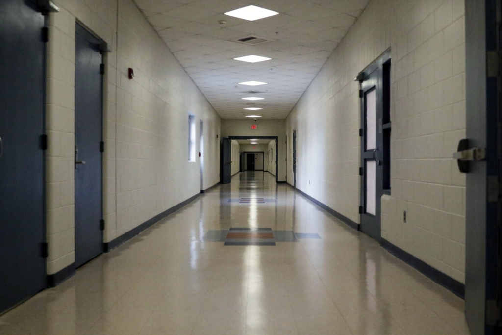 SOUTH PORTLAND, ME - JULY 21: A corridor within Long Creek Youth Development Center in South Portland. (Staff photo by Ben McCanna/Staff Photographer)