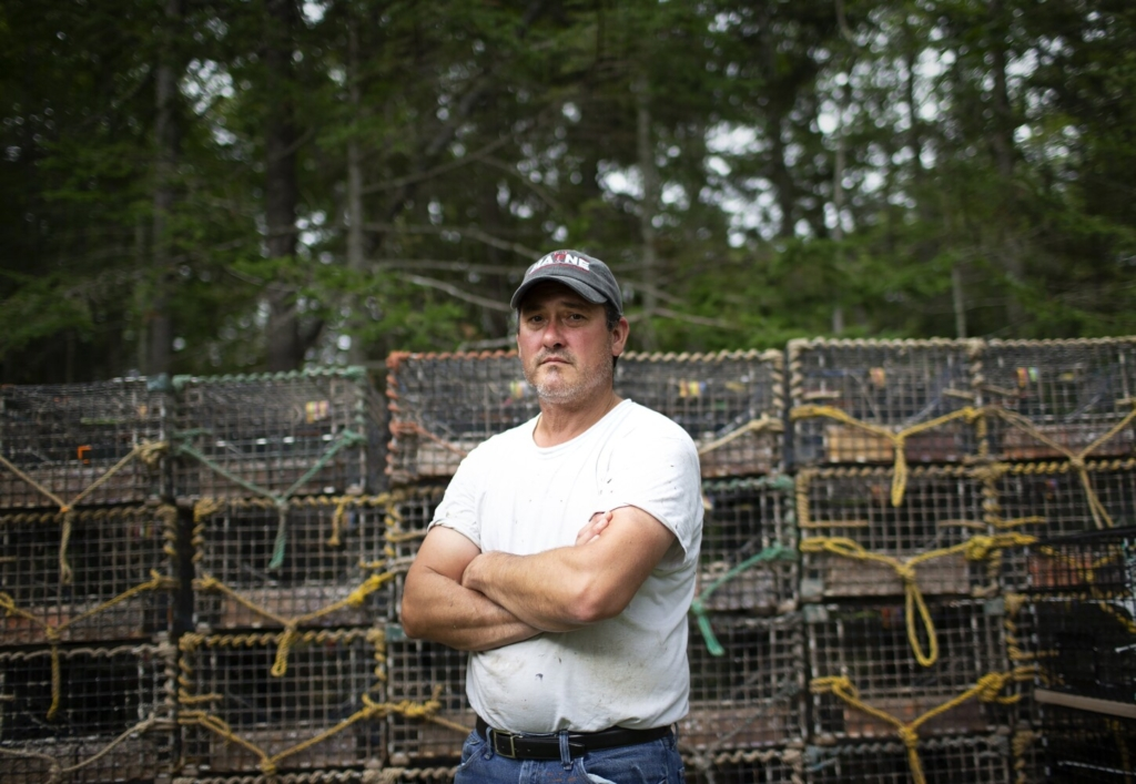 SOUTH THOMASTON, ME - SEPTEMBER 1: Lobsterman Barry Baudanza at his home in South Thomaston. (Davis/Staff Photographer)
