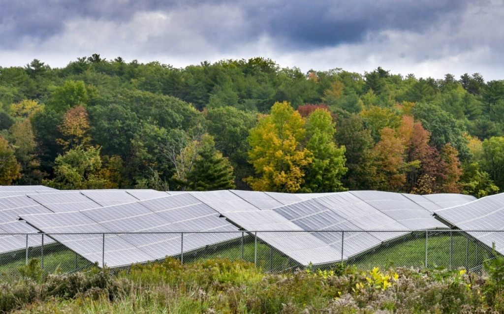 This photo shows the solar farm near the intersection of Church Hill Road and North Belfast Avenue (Route 202) on Thursday in Augusta.