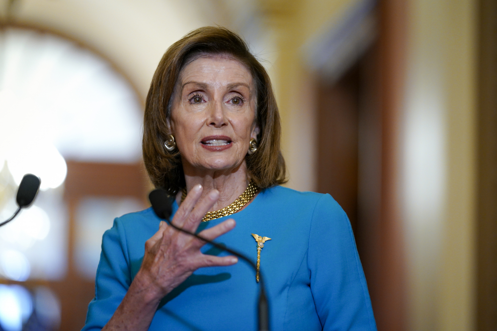 """""""We're in good shape,"""" Speaker of the House Nancy Pelosi, D-Calif., said after a meeting to try to bridge party divisions over President Biden's agenda."""