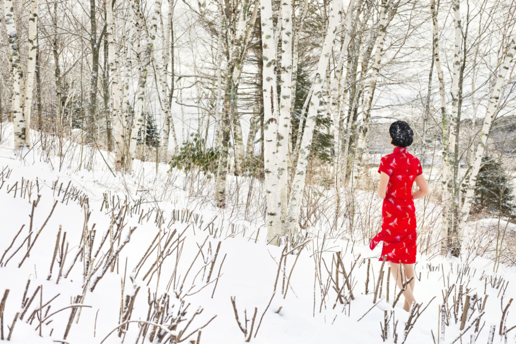 """""""In America--Winter #11"""" by photographer Ni Rong is on view at the UNE Art Gallery in Portland."""