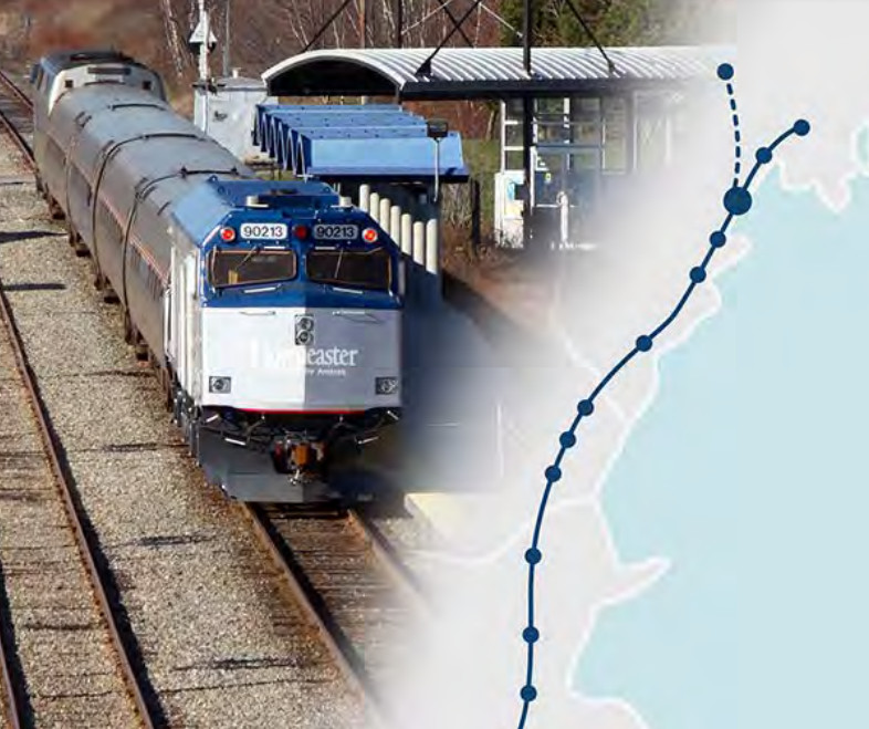 Cover of the May 2018 Lewiston-Auburn passenger rail study done for the Maine Department of Transportation.
