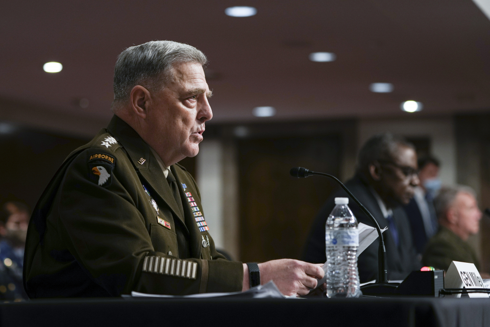 """Chairman of the Joint Chiefs of Staff Gen. Mark Milley told Congress on Tuesday, """"The fact that the Afghan army we and our partners trained simply melted away – in many cases without firing a shot – took us all by surprise. It would be dishonest to claim otherwise."""""""