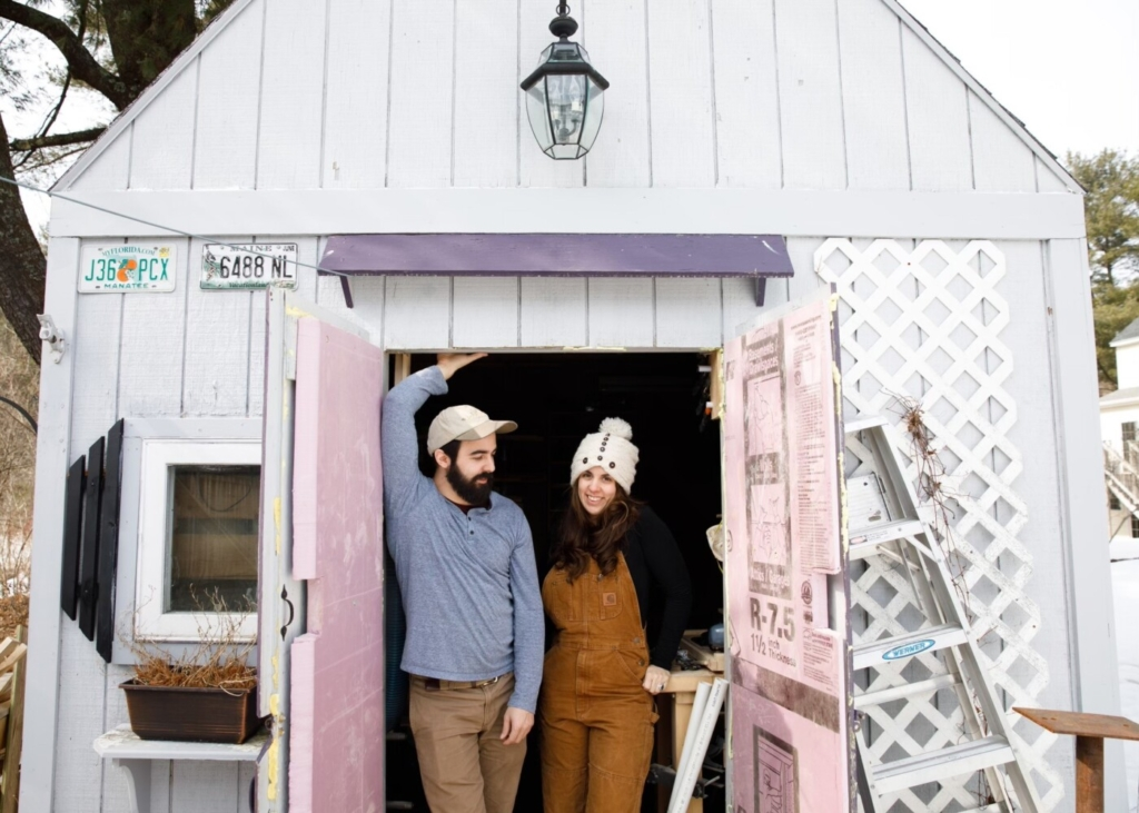Siblings Jason Ledoux, left, and Renée Ledoux own and run Purple Shed Woodworking, which is taking part in Maine Craft Weekend.