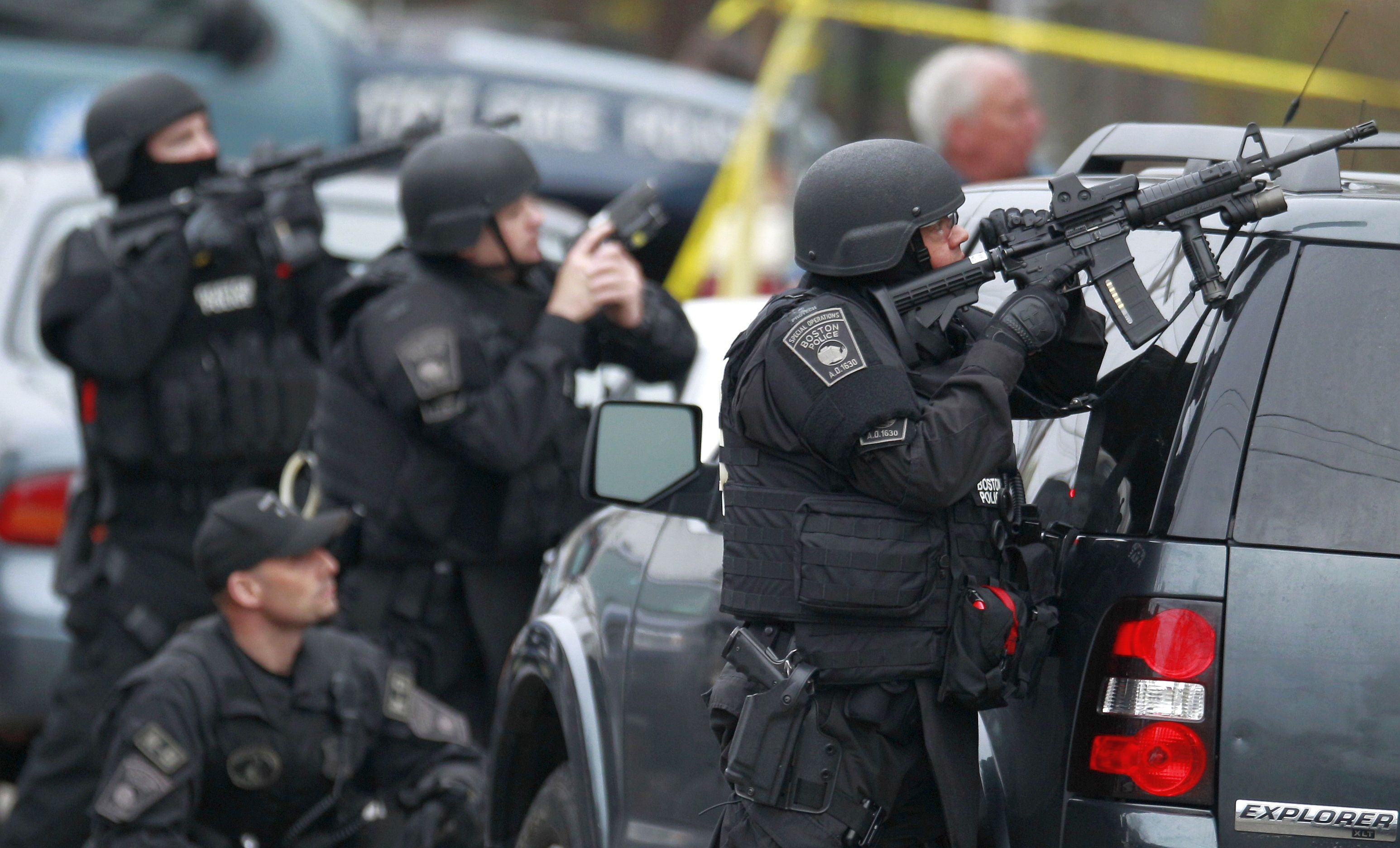 The hunt is over!' Police have Boston bombing suspect in