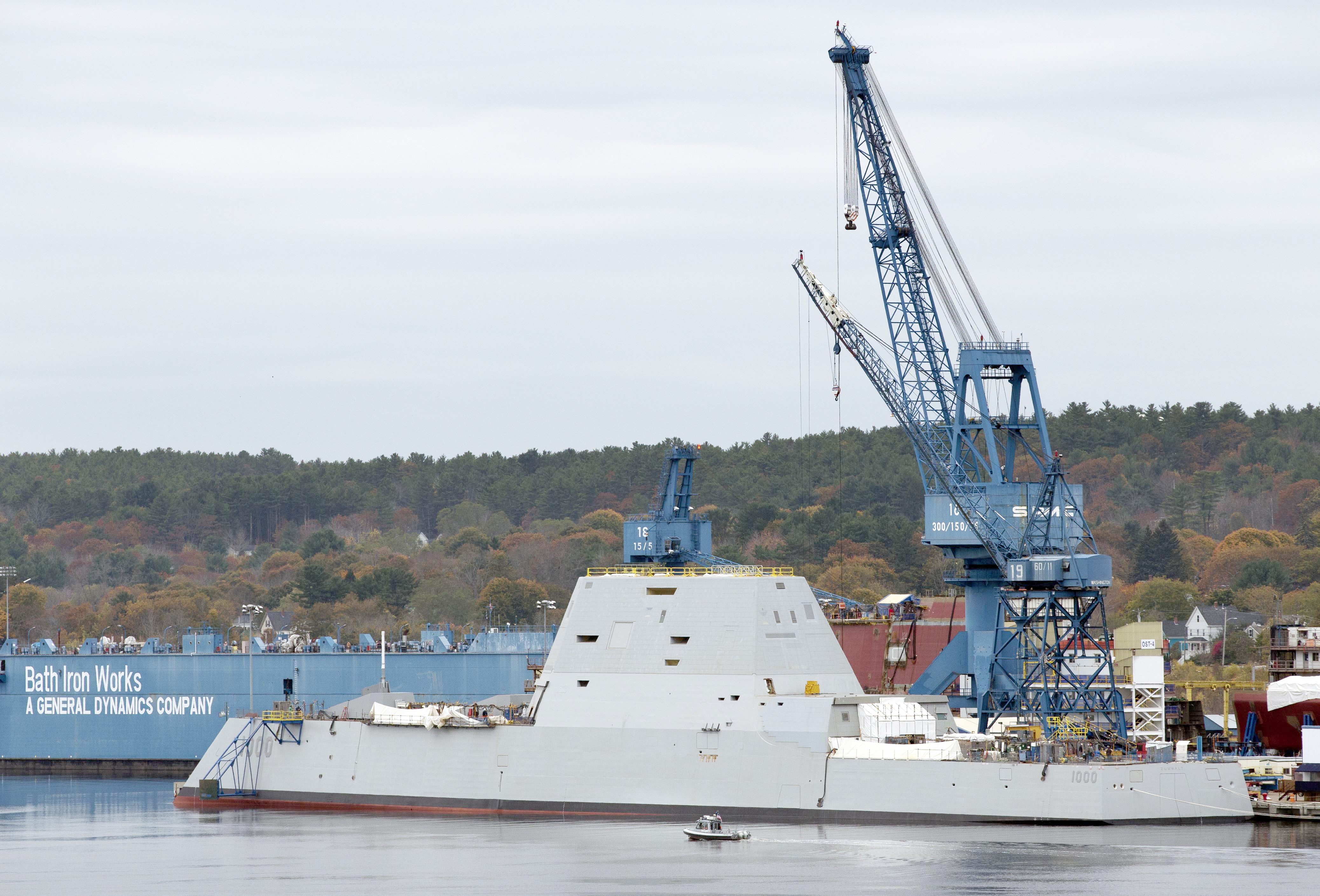 Fred Harris Kevin Faulconer Bath Iron Works In Background