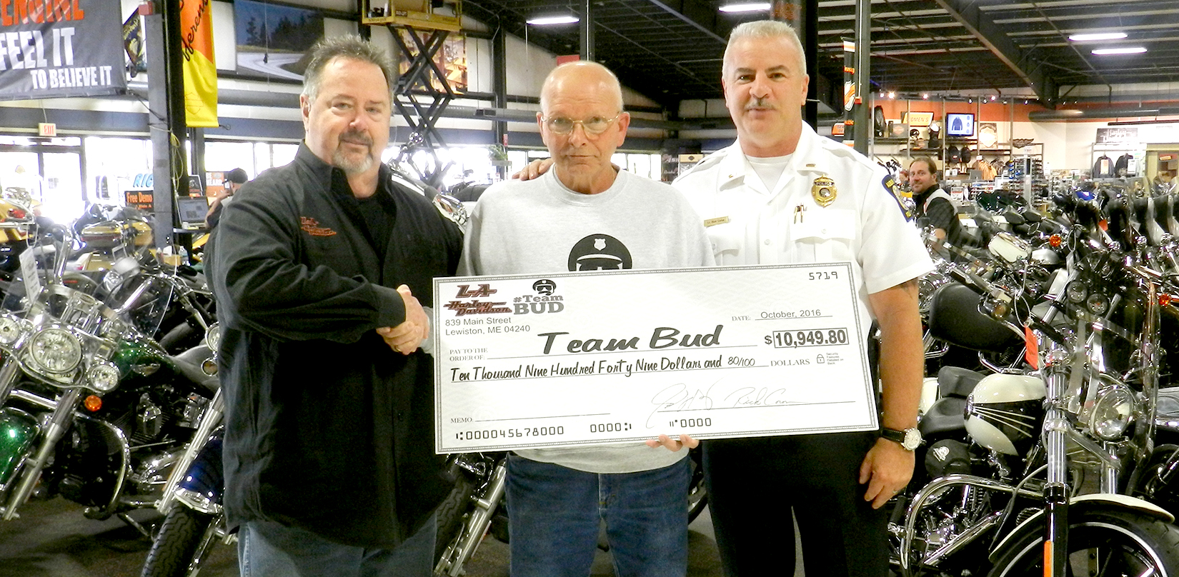 L-A Harley-Davidson helps Caouette - Lewiston Sun Journal