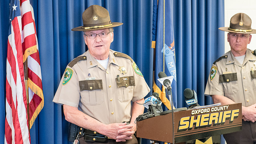 Former Oxford County Sheriff Wayne Gallant stepped down in December amid a sex scandal. (Sun Journal file photo)