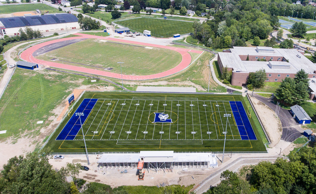 lewiston high school football field gets finishing touches