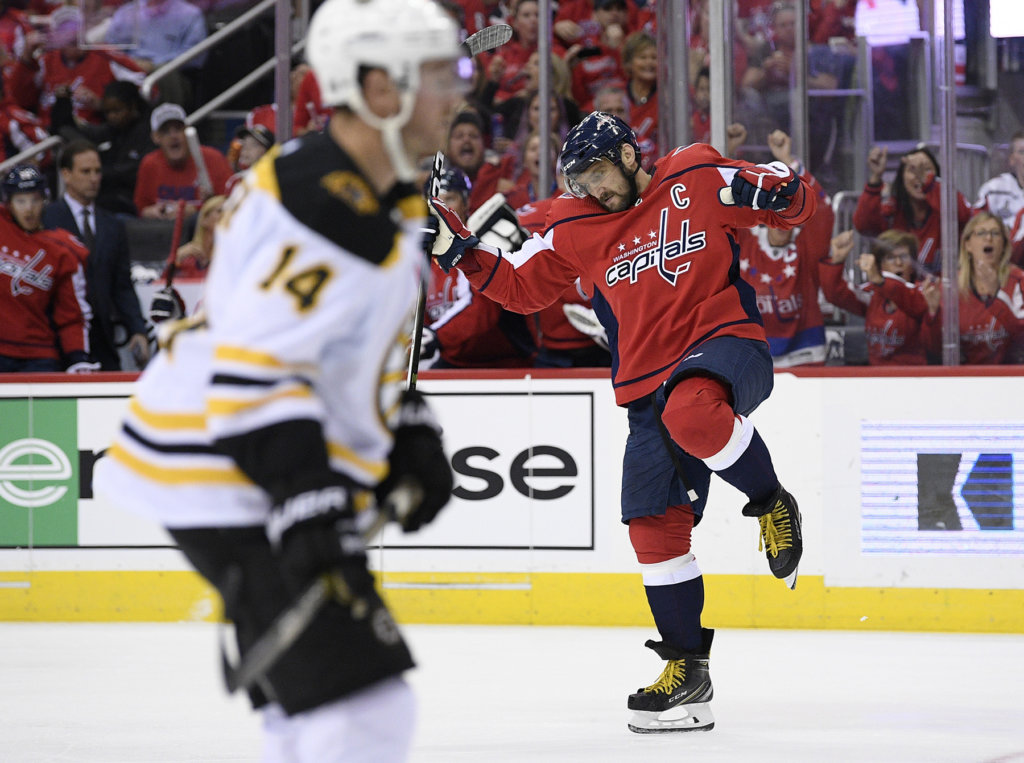 e3829b88d58 No hangover — Capitals open Stanley Cup defense with rout of Bruins ...