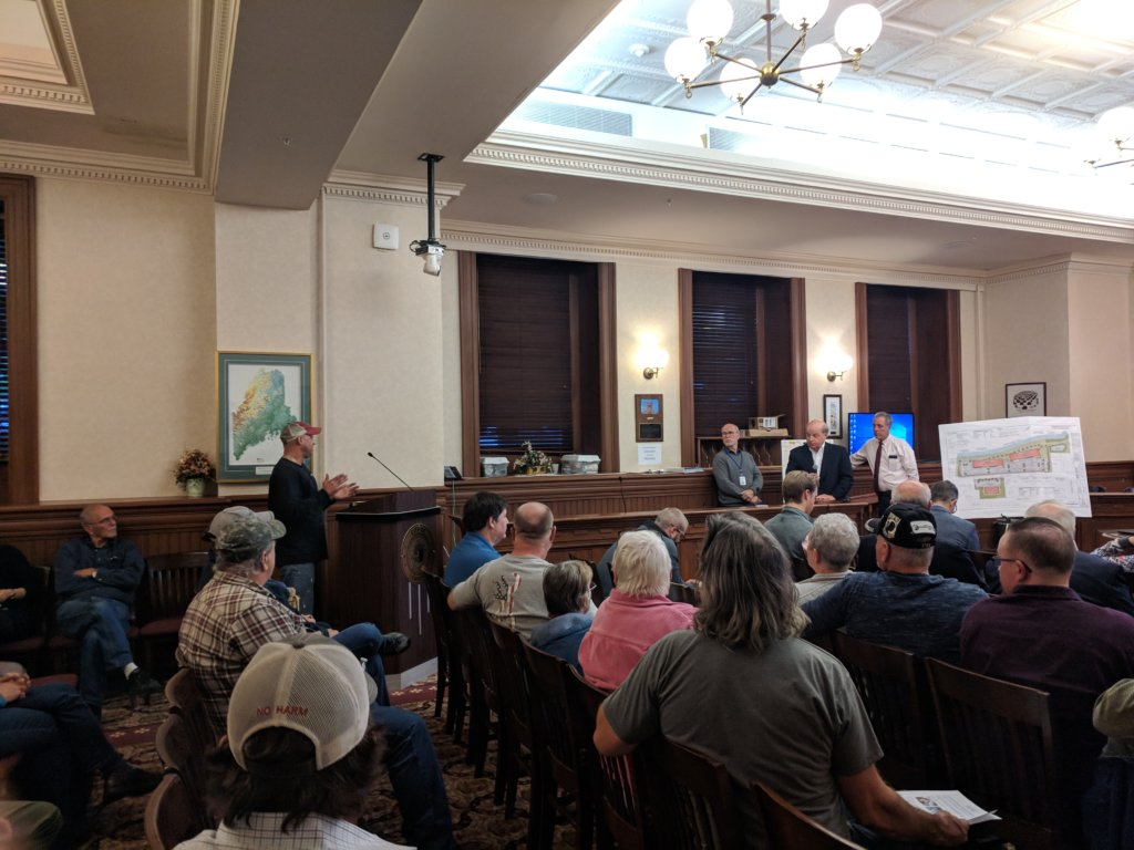 As Dozens Of Residents Listen Matt Roy Standing At The Lectern Explains His Concerns Wednesday Night About A 240 Unit Apartment Complex Proposed For