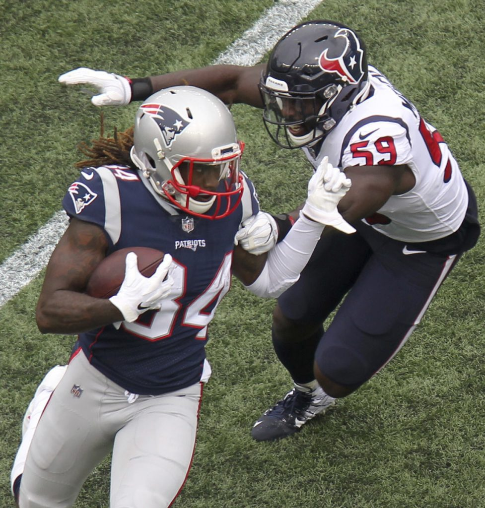 The Patriots opened their season with a 27-20 win over Houston, but the Texans won 11 of their last 13 games to claim the AFC South title, and another win Saturday against the Colts would send Houston back to New England.