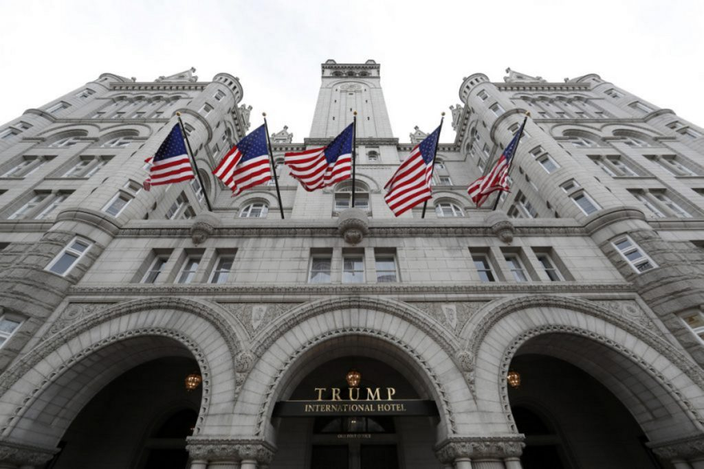 The Trump International Hotel in Washington, D.C., where Gov. Paul LePage stayed at least once in 2017.