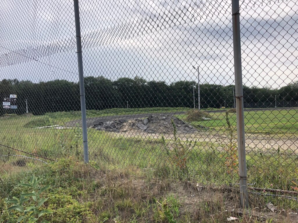 Turn four of Unity Raceway, as seen from the track's grandstands last summer. Greg Veinote plans to re-open the track, which did not hold any racing events last season, beginning this June.