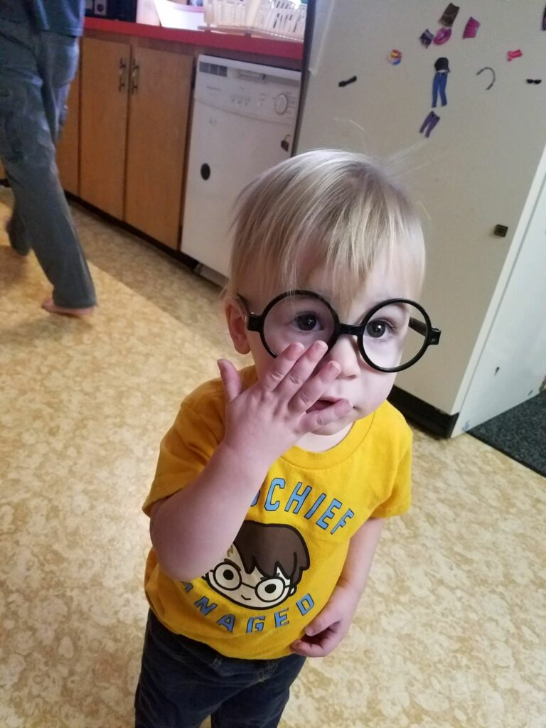 "Neville Campbell, 1 1/2 years old, was named after Neville Longbottom, a character in the ""Harry Potter"" series."