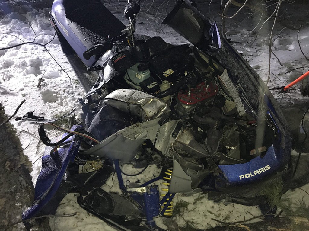 Martha Carroll of Brighton, Massachusetts, died when the snowmobile she was operating crashed into trees at a high rate of speed in Wayne on Saturday evening.