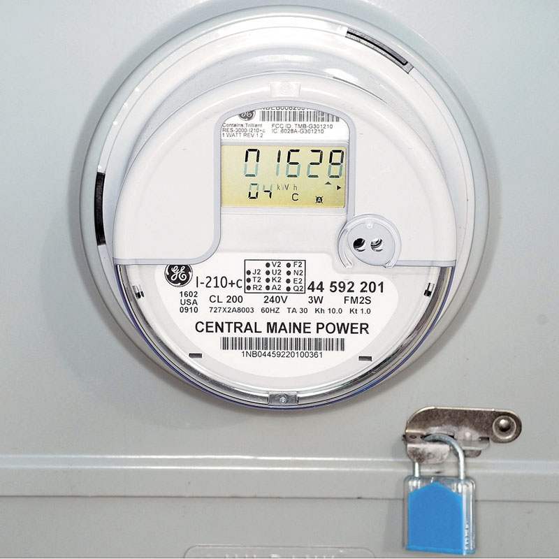 CLEARED: The Public Utilities Commission has rejected a request from petitioners to re-examine CMP's process for choosing smart meters. This is one of them that was recently installed in Augusta.