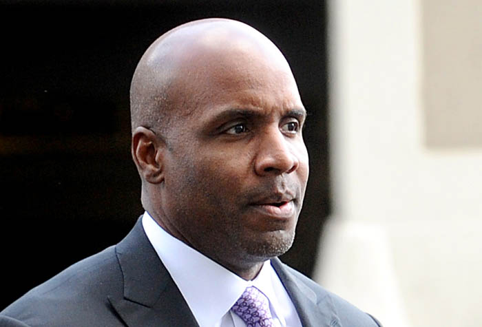 Former baseball player Barry Bonds arrives at federal court today where a jury found him guilty of obstruction of justice but deadlocked on three other counts.