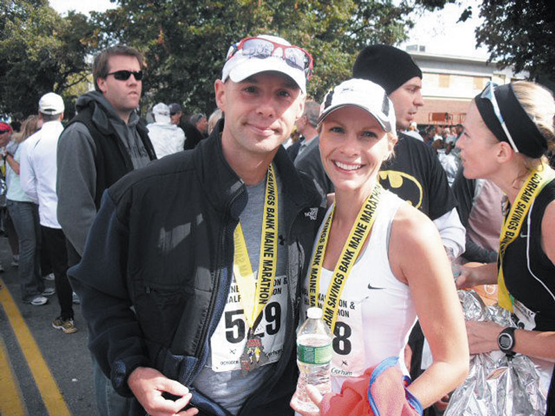 IN THE RACE: James and Audrey Machowski of Wales will run in the Boston Marathon for the first time on Monday. It will be the third overall marathon for James and the fourth for Audrey.
