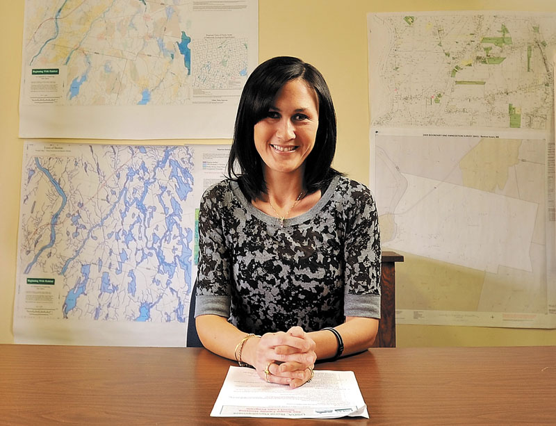 Melissa Patterson is both a Benton selectwoman and clerk at the Town Office. Rep. David Cotta, R-China, is pushing legislation that would make it illegal for someone to serve on an elected town body and at the same time be a town employee.