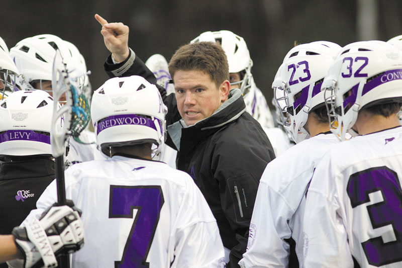 RETURN TRIP: Jon Thompson, who coached the Colby College men's lacrosse team for two seasons, returned to Waterville on Saturday with his new team, Amherst College.