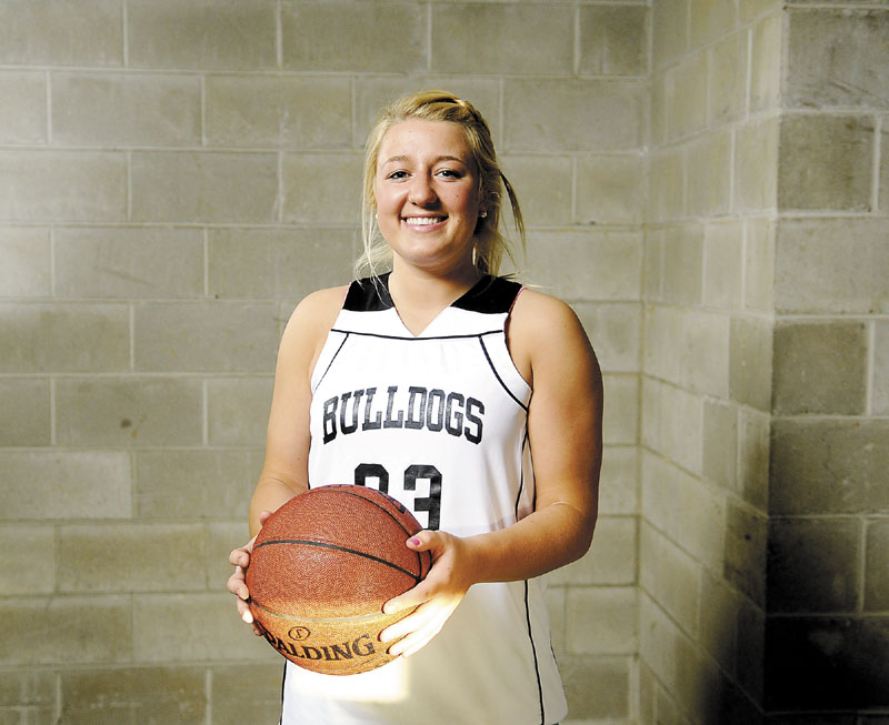TOP DOG: Hall-Dale guard Carylanne Wolfington scored 20 points, grabbed eight rebounds and recorded four steals during the championship game against Washington Academy. The junior guard is the Kennebec Journal Girls Basketball Player of the Year.
