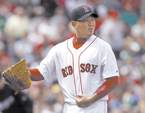 AMAZING TURNAROUND: Daisuke Matsuzaka threw one-hit ball for seven innings after one of the worst outings of his career as the Red Sox beat Toronto Blue Jays 9-1 on Monday in Boston.