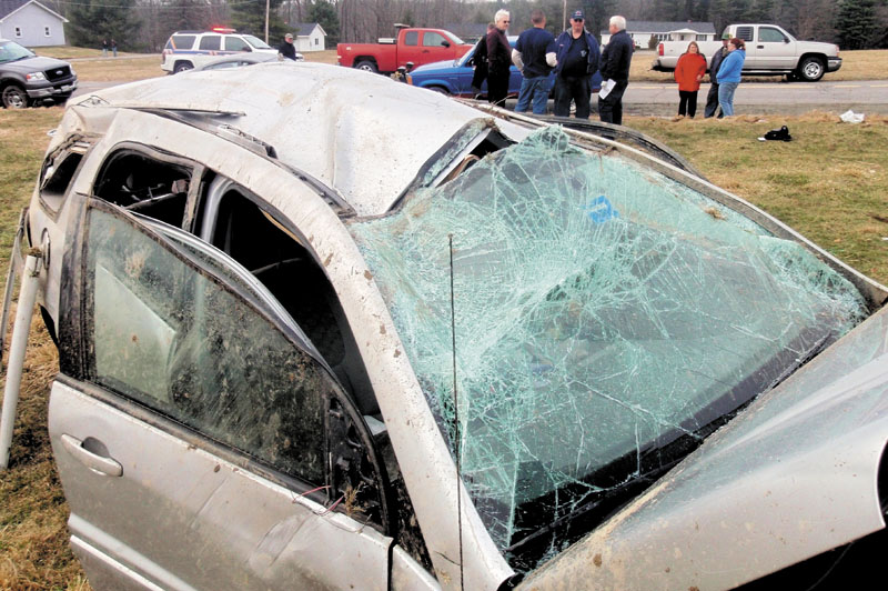 Five young people were injured Monday when a 2005 Chevrolet Equinox, traveling 85 mph in a 45 mph zone on Garland Road in Winslow, went off the road and rolled over three times. The 16-year-old driver on Tuesday was charged with driving to endanger and ticketed for violating his new license restrictions.
