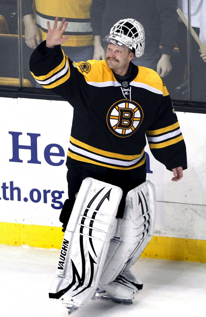 QUITE A REBOUND: Boston Bruins goalie Tim Thomas missed the playoffs last season with a left hip injury. He returned this season and led the NHL in goals against, save percentage and winning percentage to lead the Bruins back to the postseason.