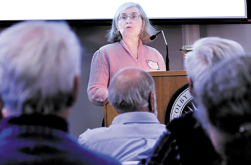"""Hasia Diner, a professor at New York University, was keynote speaker during the Jewish History Conference at Colby College on Sunday. Diner's address was titled """"Maine's Jews in Modern Jewish History."""""""