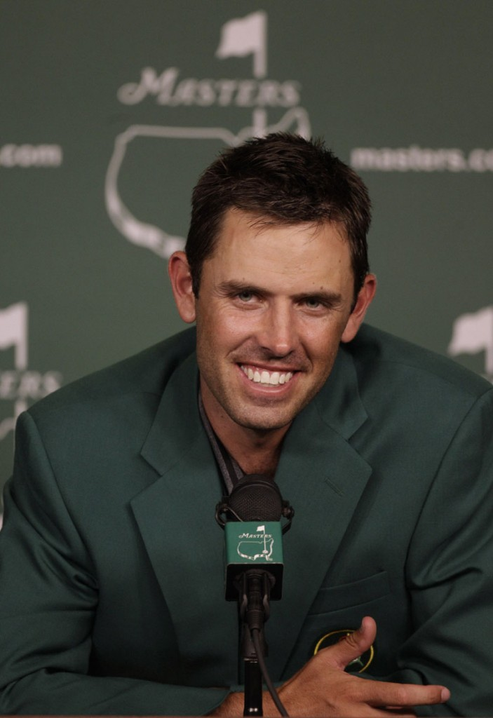 MASTERS WINNER: Charl Schwartzel speaks to reporters after winning the Masters on Sunday in Augusta, Ga. The 26-year-old South African shot a 6-under 66 in the final round to win the green jacket by two strokes.