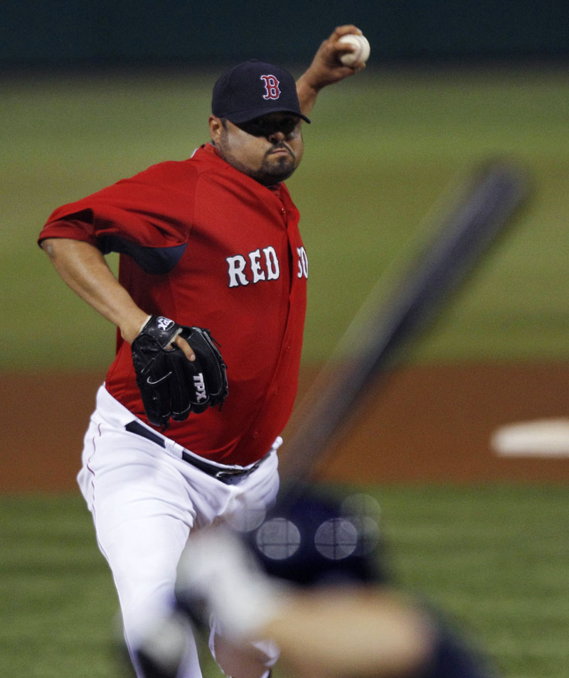 ODD MAN OUT: The Red Sox designated pitcher Dennys Reyes for assignment on Friday, the first step in trading or releasing him. The move made room for former Portland Sea Dogs southpaw Felix Doubront.