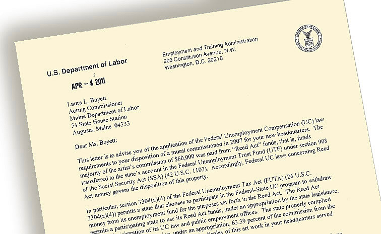 Detail of US Labor Department letter to the Maine Labor Depatment.