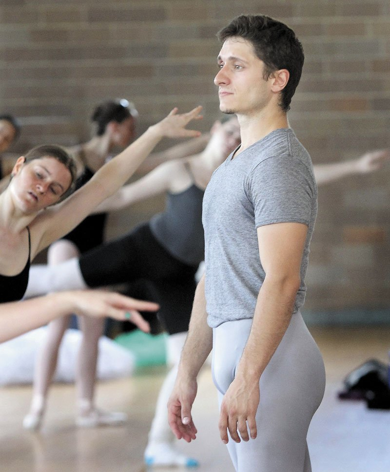 A STRONG DANCER: Ryan Jolicoeur-Nye, who grew up in Waterville and attended Maine Central Institute in Pittsfield, is a rising star in the ballet world. He will perform later this month with the Bossov Ballet in Fairfield.