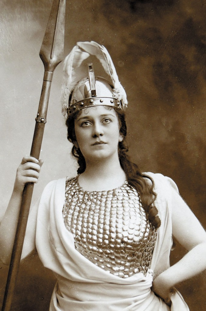 "HIGH NOTES: Farmington native and renowned opera singer Lillian Nordica as Brunnhilde in Richard Wagner's ""The Valkyrie."""
