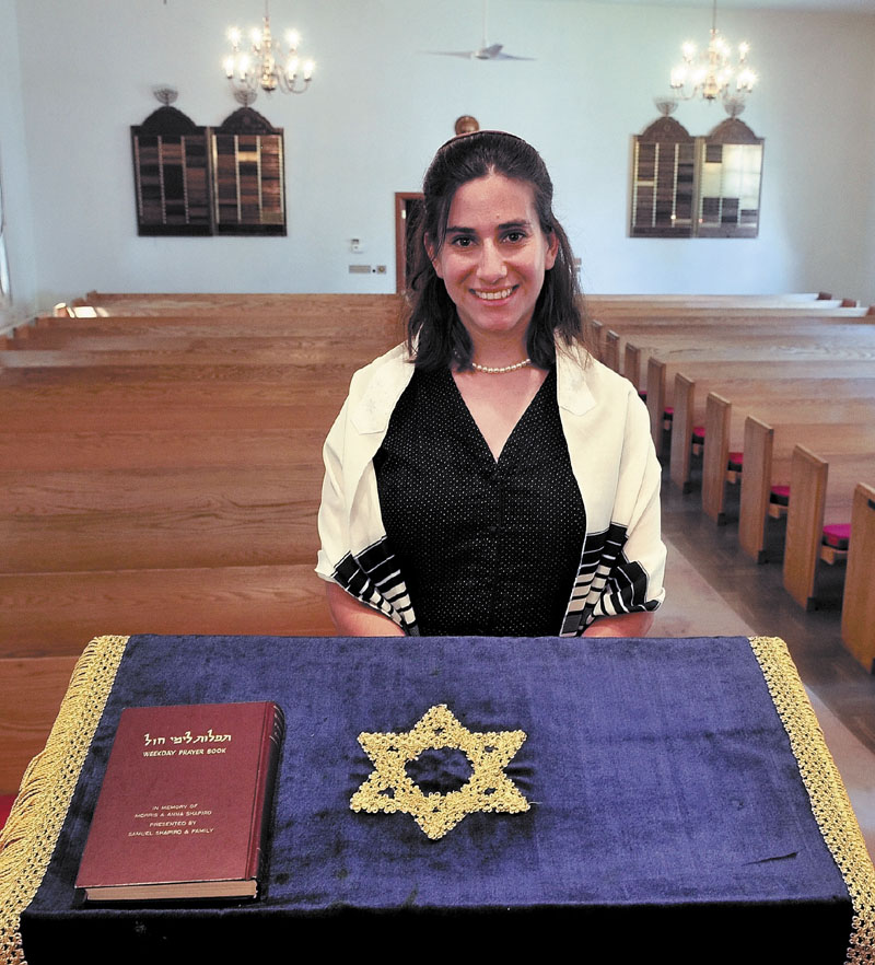 IN WATERVILLE: Rachel Isaacs is the new part-time rabbi at Beth Israel Congregation.