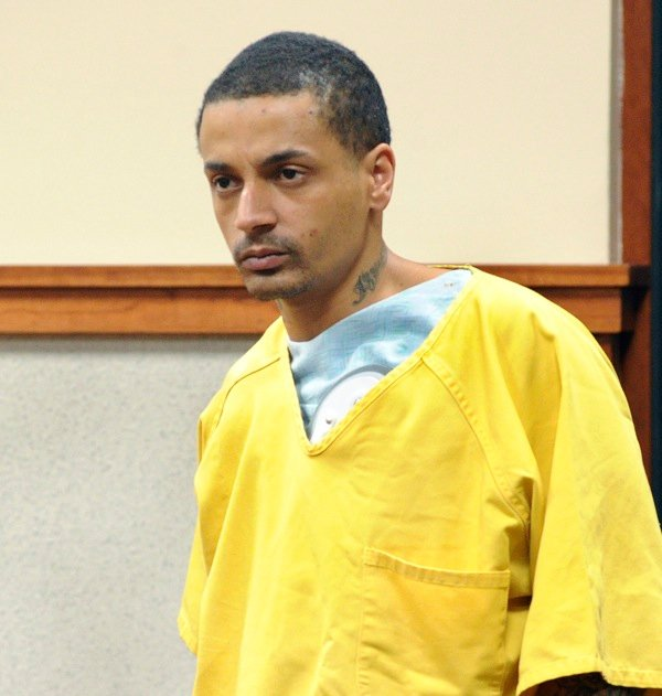 Joel Hayden, the suspect in a double-fatal-shooting in New Gloucester, made his first court appearance in the case in Cumberland County Superior Court in front of Justice Nancy Mills.