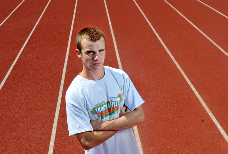Morning Sentinel Boys Track and Field Athlete of the Year Isaiah Spofford