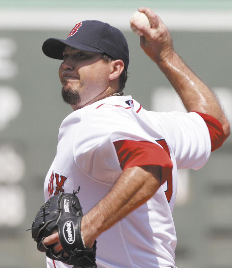 NOT GOOD ENOUGH: Boston Red Sox starting pitcher Josh Beckett allowed four runs on five hits, while striking out eight and walking three in seven innings of work as the Red Sox lost to the Kansas City Royals 4-3 Thursday at Fenway Park in Boston.