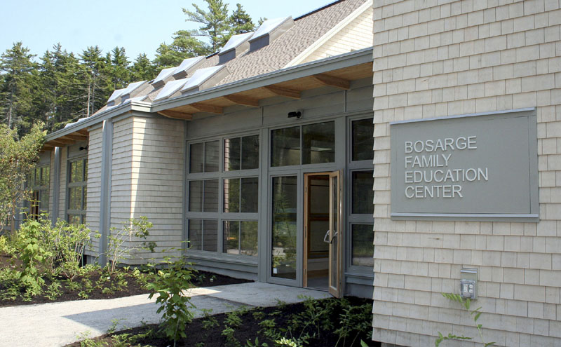"""POWER SAVER: The new Bosarge Family Education Center at the Coastal Maine Botanical Gardens in Boothbay is """"the greenest building in Maine,"""" say the project's designers. The 8,000-square-foot center is the state's first commercial building designed to produce more power annually than it uses. The $4.2 million building will have its grand opening at 11 a.m. Friday."""