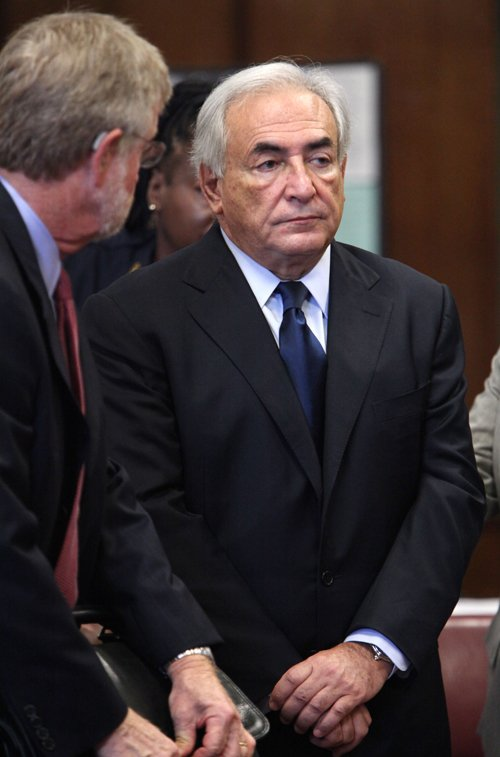 A June 6, 2011, photo of former IMF leader Dominique Strauss-Kahn at his arraignment on charges of sexually assaulting a Manhattan hotel maid.