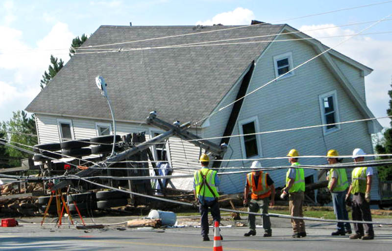 Photo courtesy of Celine Cloutier A 5-year-old boy was killed early Tuesday when a Canadian logging truck crashed into his home on Main Street in Jackman, according to police.