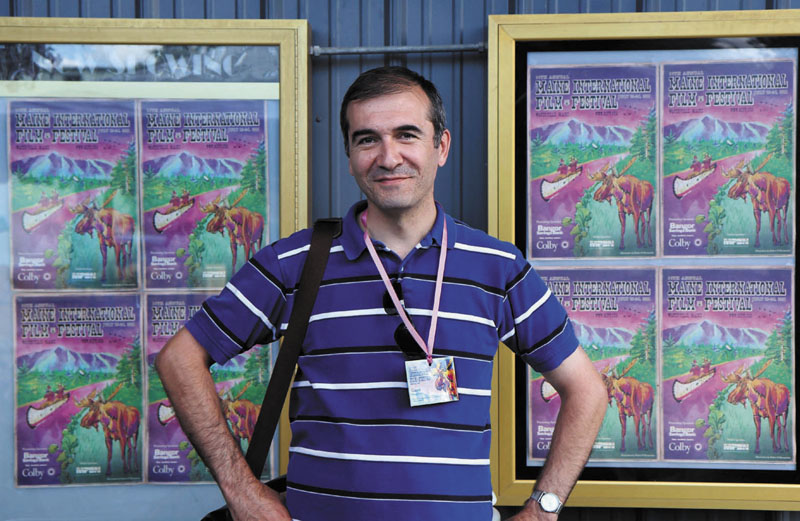 "FIRST TIME AT MIFF: Arshak Amirbekyan of Armenia had his film ""Yerek Yereko"" shown at this year's Maine International Film Festival."