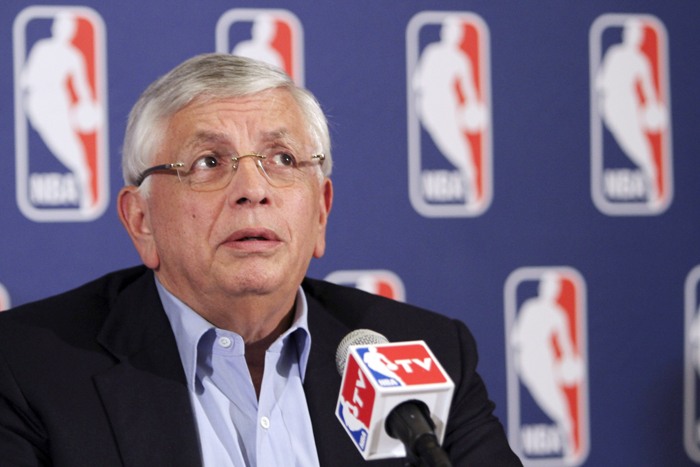 NBA commissioner David Stern speaks to reporters after a meeting with the players' union Thursday. Despite a three-hour meeting the sides could not close the enormous gap that remained in their positions.