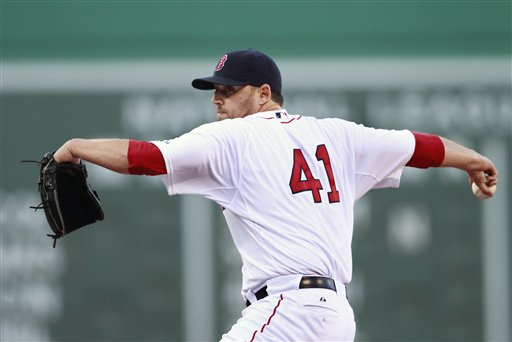 Boston's John Lackey pitched 6 2/3 shut out innings as the Red Sox beat the Orioles 4-0 on Saturday.