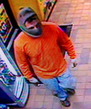 South Portland police released this photo of the man who robbed Exit 7 Mr. Mikes Mobil station Friday night.