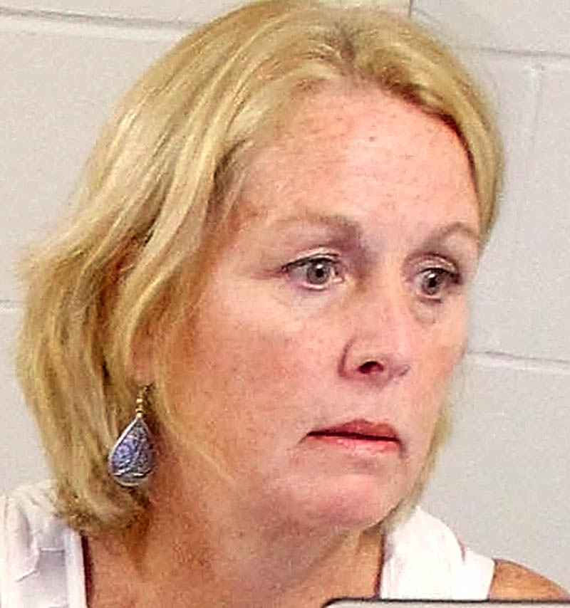 IN CHARGE: New Waterville Junior High School principal Carole Dodge.