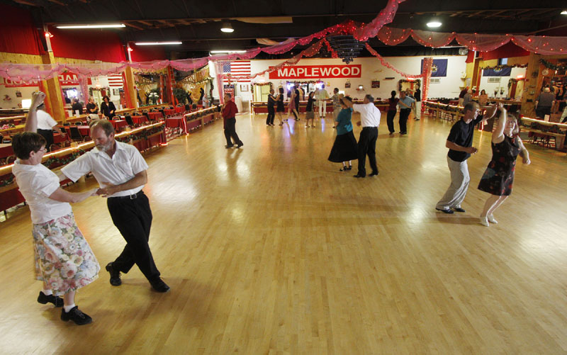 GOTTA DANCE: Ballroom dance lessons take place recently at Maplewood Dance in Portland. The dance hall canceled their country dance Fridays to accommodate an increased interest in ballroom dance.