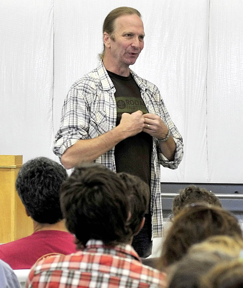 Chef Michel Nischan was the keynote speakers during the Kneading Conference in Skowhegan on Thursday.